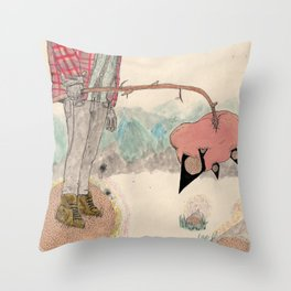 fuss Throw Pillow