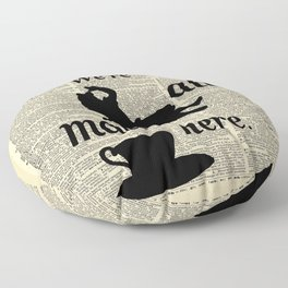 We're All Mad Here - Alice In Wonderland - Old Dictionary Page Floor Pillow