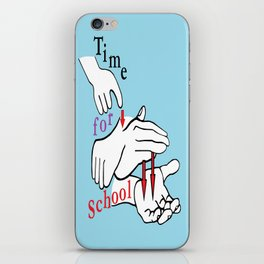 ASL Time for School iPhone Skin
