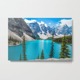 Moraine Lake Landscape Metal Print