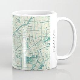 Tianjin Map Blue Vintage Coffee Mug
