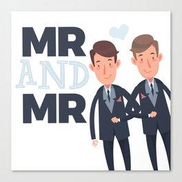 Mr and Mr gay wedding Canvas Print