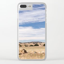 Dry meadows and rolling hills near Julian, CA Clear iPhone Case