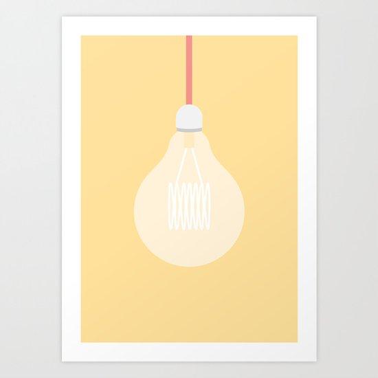 #74 Edison Globe Art Print