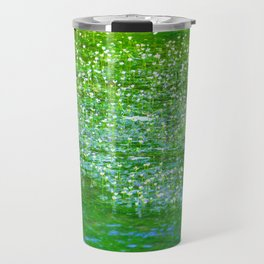 Starry flowers on the water Travel Mug