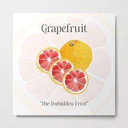 The Glorious Greatness of Grapefruit Metal Print