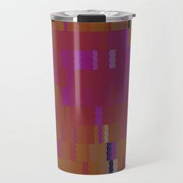 Bubblegum Pink Digi Fractal Travel Mug