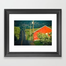 Hilly Country Road, Hood River Valley, Oregon Framed Art Print