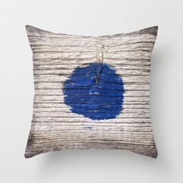 blue dot Throw Pillow