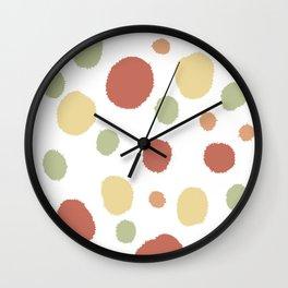 Crystal snow balls abstract Wall Clock