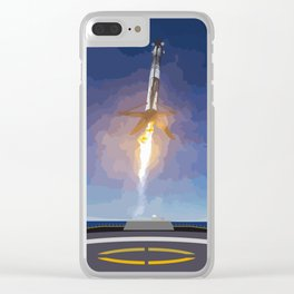 The Booster Has Landed Clear iPhone Case
