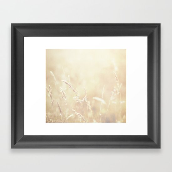 Lets make hay whilst the sun shines  Framed Art Print