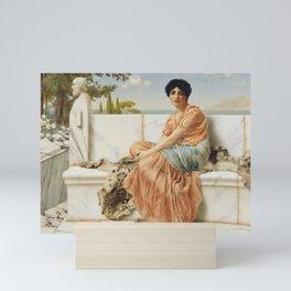 John William Godward - In the Days of Sappho Mini Art Print