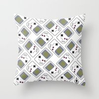 gameboy Throw Pillows featuring gameboy by Λdd1x7