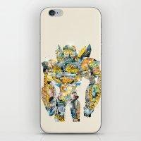 transformer iPhone & iPod Skins featuring pop art bumblebee by bri.buckley