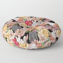 Because Bunnies Floor Pillow