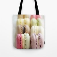 macaron Tote Bags featuring macaron by Susigrafie