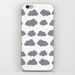 Grey clouds winter time art iPhone Skin