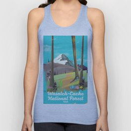 Wasatch-Cache National Forest Utah Unisex Tank Top