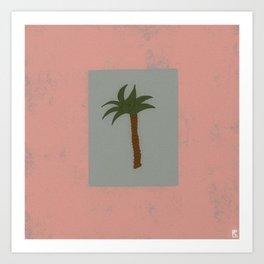 Palm Pink Art Print