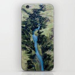 Aerial View of Fjaðrárgljúfur Canyon in Iceland – Landscape Photography iPhone Skin