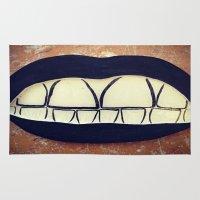teeth Area & Throw Rugs featuring  Teeth by Hayleydonovan