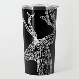 Black and White Deer Travel Mug