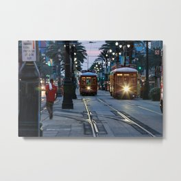 Evening on Canal Street, New Orleans Metal Print