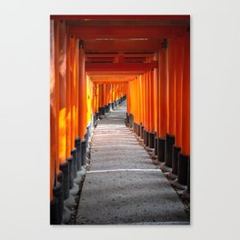 Torii gates of the Fushimi Inari Shrine in Kyoto, Japan Canvas Print