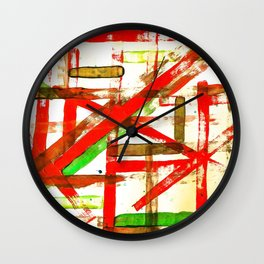 Color Straight Wall Clock