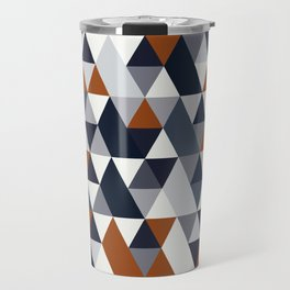 Navy Rust Geometry IV Travel Mug