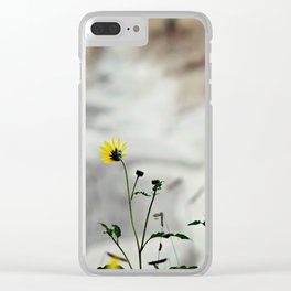 A touch of yellow Clear iPhone Case