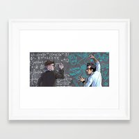 pacific rim Framed Art Prints featuring PACIFIC RIM - Blackboard Buds by Kristal Babich
