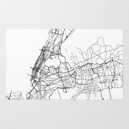 Minimal City Maps - Map Of New York, United States Rug