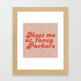Fancy Parkers Framed Art Print