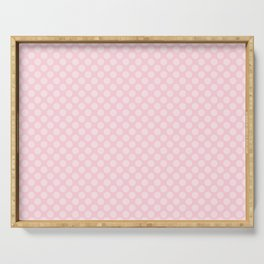 Soft Pastel Pink Large Spots Serving Tray