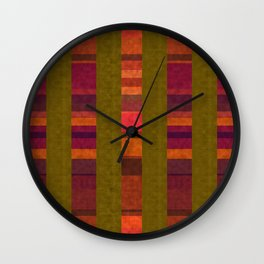 """""""Colorful Autumn Field"""" Wall Clock"""
