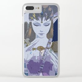 Midnight Lullaby Clear iPhone Case