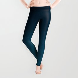 Navy blue teal hand painted watercolor paint ombre Leggings