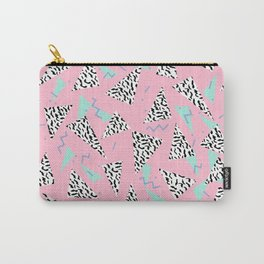 Geometric Minimal pastel modern pattern design triangle memphis basic nursery decor Carry-All Pouch
