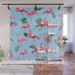 Flamingos Love Pattern 7 Wall Mural
