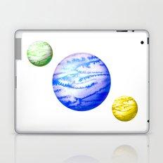 Illustration of watercolor round planet Laptop & iPad Skin
