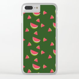 A Sweet Slice watermelon Print Clear iPhone Case