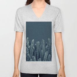 Blue Cacti Dream #1 #minimal #decor #art #society6 Unisex V-Neck