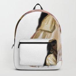 Odalisque watercolor harem ladies illustration Backpack