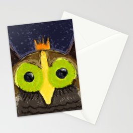 The Kingly Owl - Digital Painting Stationery Cards