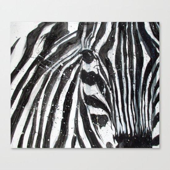 Stripes // The Zebra Canvas Print