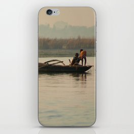 Fishing Boat with Red Flag iPhone Skin