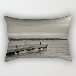 Frozen Dock Rectangular Pillow
