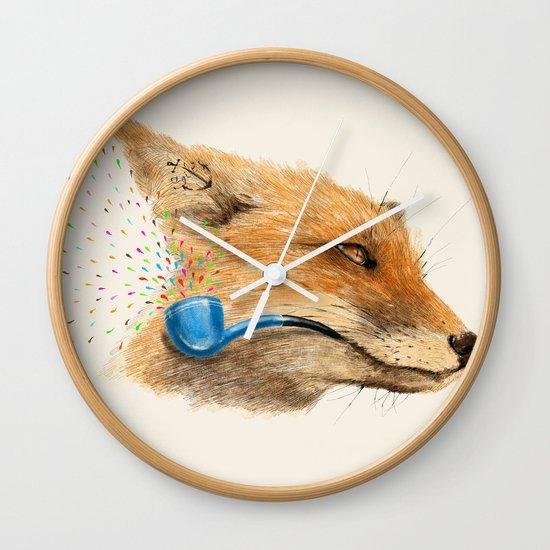 Fox V Wall Clock